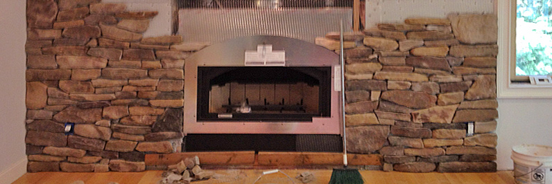 adding stone to zc fireplace surround install in newtown, north salem ny, port chester ny, darien ct