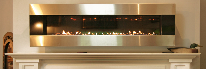 linear gas fireplace in our showroom visit from norwalk easton, westport, ridgefield and lewisboro, ny
